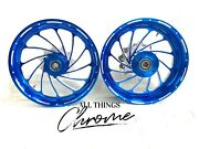 300 Fat Tire Candy Blue Turbo Wheel Package 2009-2014 Yamaha Yzf R1