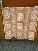 Rare Antique Hand Crocheted Tablecloth/bedspread - 164 X 180