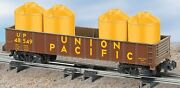 American Flyer S-gauge Union Pacific Gondola With Canisters By Lionel/new