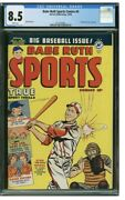1950 Babe Ruth Sports Comics 9 Cgc 8.5 Stan Musial Cover Harvey Publication Hof
