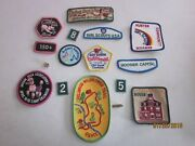 Girl Scout Lot Of 16 Fun Patches Badges Camp Dellwood Get Going Cookies Usa P16