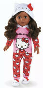 My Life As Hello Kitty 18 Poseable Doll African American Htf New Dark Hair