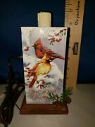 Lamp Electric Wooden Cardinal Theme By Crazy Mountain 8841
