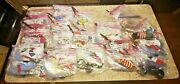 Vintage Collectible Lot Of Over 150 Rare Hand Held Stick Flags With Stands