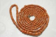 Large Old Antique Vintage Red Pink Coral Beads Necklace Saturated Color 79,8 Gr
