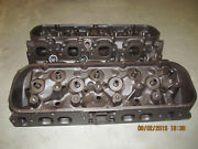 1978 - 87 Chevy 454 Heads Open Oval Port. Cast 14081045 W/ Valves And Hardware
