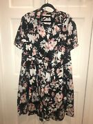 Floral Print Cotton Short Sleeve Day Dress