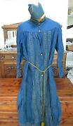 Antique Ioof Odd Fellows Fraternal Organization Blue Robe- Hat- Knotted Cord