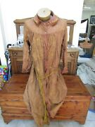 Antique Ioof Odd Fellows Fraternal Organization Brown / Pink Robe- Knotted Cord