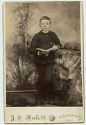 Boy And Badge And Scout Hat Vintage Photo By Hulett , Napanee On Canada