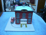 Railking 30-9102 Operating Fire House Red/ Gray O Gauge Free Shipping Rr