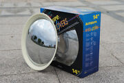 Baby Moon Chrome With_white Wall Hubcap 2084cw_14 Wheel Cover 4pcs Per Set