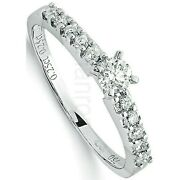 Certificated Diamond Solitaire Ring 18 Carat White Gold British Large Sizes R-z