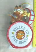 Garfield With Mouse Ceramic Music Box By Enesco 1981 Plays The Entertainer