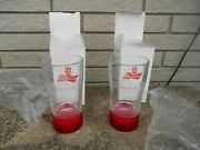 2 Budweiser Bud Red Light Goal Glass Sync To Any Nhl Team New