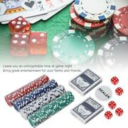 200pc Poker Chips Game Set With Cards Dices Portable Aluminum Case For Kid Adult