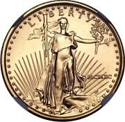Nqc 1990 5 Tenth-ounce Gold Eagle Ms 70