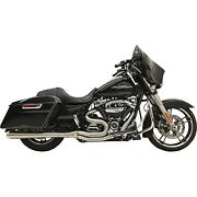 Bassani Stainless Steel 2-into-1 Long Road Rage Iii Megaphone Exhaust System