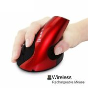 Rechargeable Wireless Vertical Mouse Ergonomic 1600 Dpi Usb Computer Gaming Mice