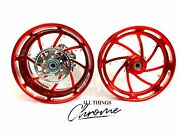 Stock Size Candy Red Contrast Piranha Wheels 2009-2014 Yamaha Yzf R1