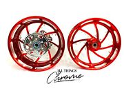 240 Fat Tire Candy Red Contrast Piranha Wheels 2009-2014 Yamaha Yzf R1