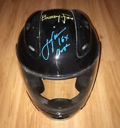 Signed Auto John And Brittany Force Full Size Fs Helmet Photo Proof 16x Champ Ihra