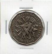 Australian 1982 50 Cent Commonwealth Games Circulated Coin