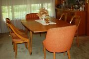 Jamestown Lounge Mid-century Modern Drop Leaf Table W/6 Chairs-local Pickup Only