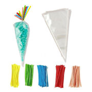 Cone Bags Clear Cellophane Party Bags Birthday Packaging Gift Cello Sweets Candy