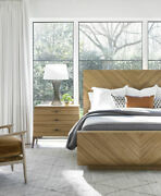 Modern Sleigh Bed Finished In Olive Ash Wood