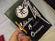 Wwii Rare 118th Tactical Recon Sqdn Booklet Signed By Ace Watts To Avg Ace