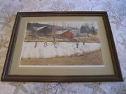David Armstrong Lithograph Print Farm Pond Hand Signed 535/950 Framed