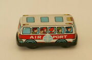 Very Rare And Vg Vintage Japan Tin Pan Am American World Airways Shuttle Bus Toy