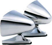 Vintage Style Chrome Sport Bullet Mirrors Hot Rods, Classic Muscle Car Restomod