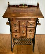 Reproduction Roulette Table From Speakeasy Times Using Old Singer Sewing Stand