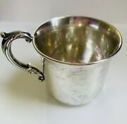 Vintage Sterling Silver Baby Cup By Poole 375