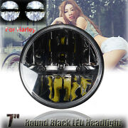 1x 7 Round Motocycle Projector Hid Led Light Headlight For Harley