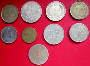 Turkey Collection Of Nine Different High Denomination Coins With Mixed Dates
