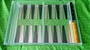 Backgammon Lucite Acrylic Board And Bakelite Bumblebee Checkers Chips Used Complet