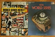 1976 And 1978 New York Yankees World Series Programs Cincinnati Reds La Dodgers
