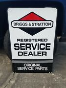2x3 Briggs And Stratton Engine Repair Service Sign And Dealer Sales Parts