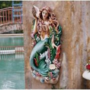 29h Melodyand039s Cove Mermaid Wall Garden Sculpture By Design Toscano