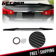 Fit 14-20 Infiniti Q50 Trunk Rear Lip Spoiler M4 Style Hydro-dipped Carbon Style