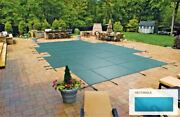 Inground Mesh Green Safety Cover For 22and039 X 44and039 Rectangular Pool