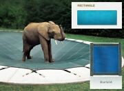 Solid Pvc Blue Cover For 16and039 X 36and039 Pool With Automatic Cover Pump