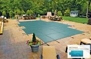 Inground Mesh Safety Cover For 20and039 X 40and039 Pool With 4and039 X 8and039 Center End