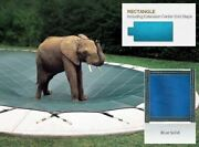 Solid Blue Cover For 16 X 34 Pool With Auto Cover Pump 4 X 8 Center