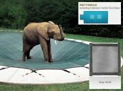 Solid Gray Cover For 18 X 36 Pool Mesh Drain Panels 4 X 8 Center End