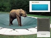 Looploc Inground Mesh Tan Safety Cover For 20and039 X 50and039 Rectangular Pool