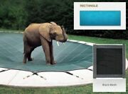 Looploc Inground Mesh Black Safety Cover For 20and039 X 50and039 Rectangular Pool